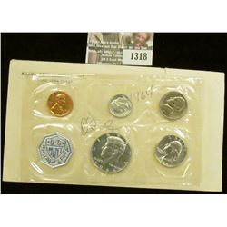 1318 _ 1964 U.S. Proof Set in original cellophane as issued. (5 pc. set).