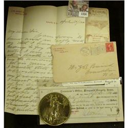 """1334 _ Ashville, N.C. 1900 Stamped cover with Patriotic Post Mark; North Carolina Map Card; 1881 """"Tr"""