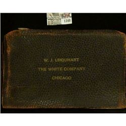 "1340 _ ""W. J. Urquhart The White Company Chicago"", Leather bound 8"" x 4.5"" Album full of Antique Car"