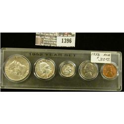 1396 _ 1952 Year Set of U.S. Coins, Brilliant Uncirculated and stored in a Snaptight Case.
