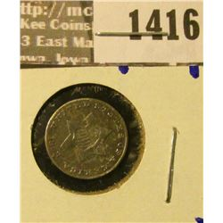 1416 _ 1853 Three Cent Silver Coin Commonly Referred To As The Trim