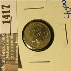 1417 _ Better Grade Three Cent Nickel With Rotated Reverse