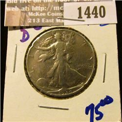 1440 _ Key Date 1938-D Walking Liberty Half Dollar