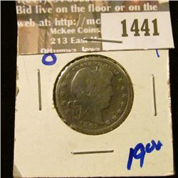 1441 _ Better Date 1893-O Barber Quarter