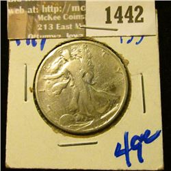 1442 _ 1919 P Walking Liberty Half Dollar