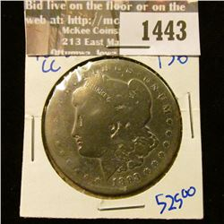 1443 _ Key Date 1893 Carson City Morrgan Silver Dollar.  Only 677,000 minted