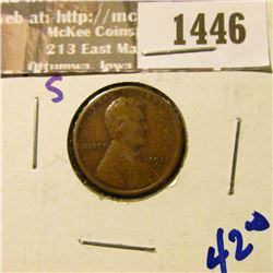 1446 _ 1911-S Semi Key Date Wheat Cent