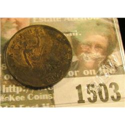 1503 _ 1863 Great Britain Farthing, Key Date with a low mintage, EF