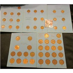 1528 _ Great Britain Coins Sets: 1937-56 Farthings, & 1937-63 Half Pennies (missing only the 1961),