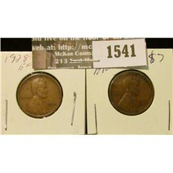 1541 _ 1928 P & D U.S. Wheat back Lincoln Cents. Both EF.