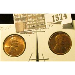 1574 _ 1951 D & S U.S. Lincoln Cents, Brilliant Uncirculated.