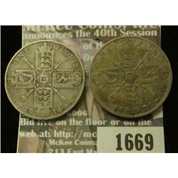 1669 _ 1914, 1922 Great Britain Silver Florines.