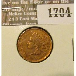 1704 _ 1901 Indian Head Cent. EF-40.