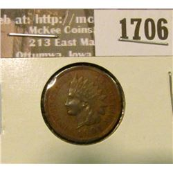 1706 _ 1901 Indian Head Cent. EF-40.