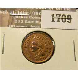 1709 _ 1900 Indian Head Cent. EF-40.