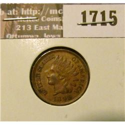 1715 _ 1899 Indian Head Cent. EF-40.