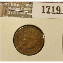 1719 _ 1897 Indian Head Cent. EF-40.