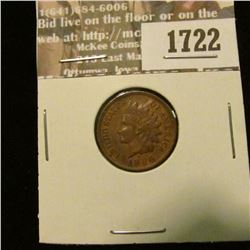 1722 _ 1896 Indian Head Cent. EF-40.