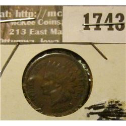 1743 _ 1889 Indian Head Cent. EF-40.