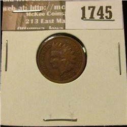 1745 _ 1888 Indian Head Cent. EF-40.