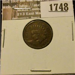 1748 _ 1887 Indian Head Cent. VF-20.