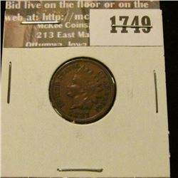 1749 _ 1887 Indian Head Cent. VF-20.
