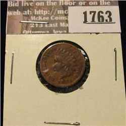 1763 _ 1884 Indian Head Cent. VG-10.