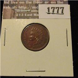 1777 _ 1881 Indian Head Cent. F-12.