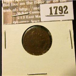 1792 _ 1878 Indian Head Cent. VG-4.