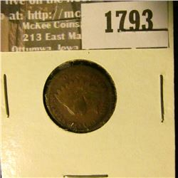 1793 _ 1878 Indian Head Cent. VG-4.