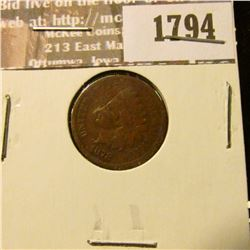 1794 _ 1878 Indian Head Cent. VG-4.