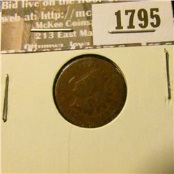 1795 _ 1878 Indian Head Cent. VG-4.