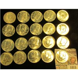 1815 _ 1967 P Original Bank-wrapped Roll of 40% Silver Kennedy Half Dollars, (20 pcs.).