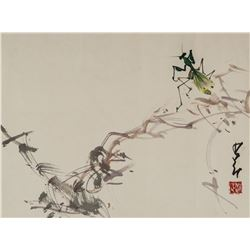 ZHAO SHAOANG Chinese 1905-1998 Watercolor on Paper