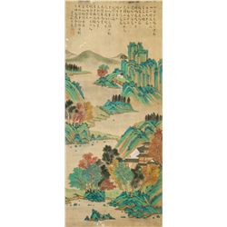 QIU YING Chinese 1494-1552 Watercolor Landscape