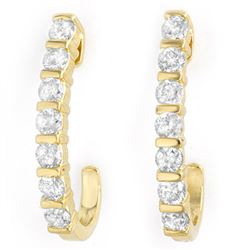 0.75 CTW Certified VS/SI Diamond Earrings 14K Yellow Gold - REF-66N8Y - 13998