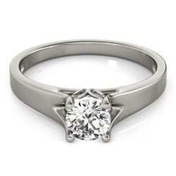 0.75 CTW Certified VS/SI Diamond Solitaire Ring 18K White Gold - REF-185K8W - 27789