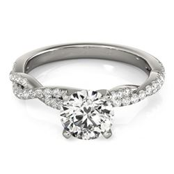 1 CTW Certified VS/SI Diamond Solitaire Ring 18K White Gold - REF-189H6A - 27846
