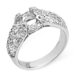 0.75 CTW Certified VS/SI Diamond Ring 14K White Gold - REF-64A8X - 10396