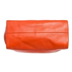Bvlgari Orange Leather Twist Shoulder Bag