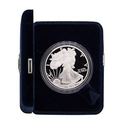 2005-W $1 American Silver Eagle 1 oz Fine Silver Bullion Proof Coin w/Box