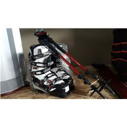SOLOMEN SKI BOOTS AND COLAPSABLE POLES
