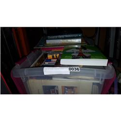 TOTE OF SCRAP BOOKING BOOKS ETC