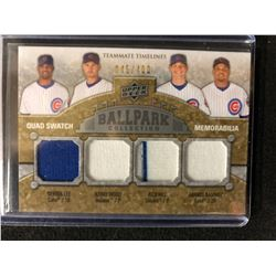 2009 Upper Deck Ballpark Collection - Teammate Timelines Quad Swatch Memorabilia