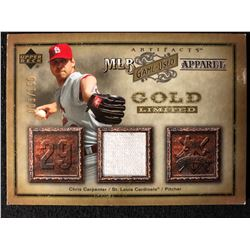 2006 Artifacts MLB Game-Used Apparel Gold Limited #CC CHRIS CARPENTER