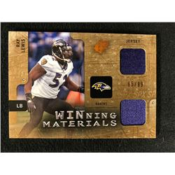 2009 SPx Winning Materials Ray Lewis Dual Game Used Jersey Card (65/99)
