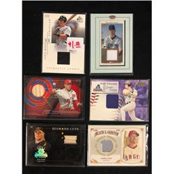 BASEBALL GAME WORN JERSEY CARD LOT