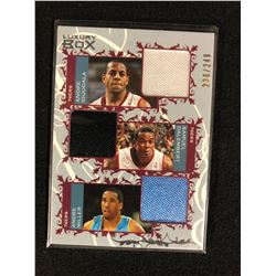 2006-07 Luxury Box Courtside Relics Triple Iguodala/Dalembert/Miller Jersey Card
