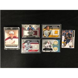 HOCKEY GAME WORN JERSEY CARD LOT