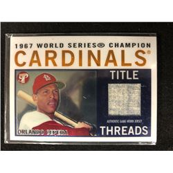 1967 WORLD SERIES CHAMPION CARDINALS TITLE THREADS ORLANDO CEPEDA